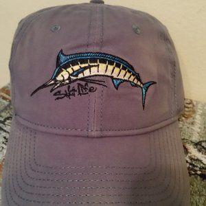 NWT Salt Life hat harbor blue with fish
